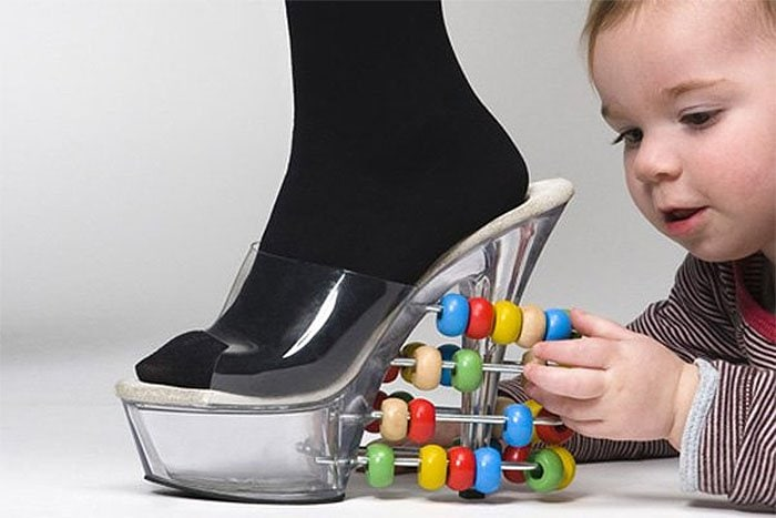 Abacus stripper heels for entertaining a baby photo