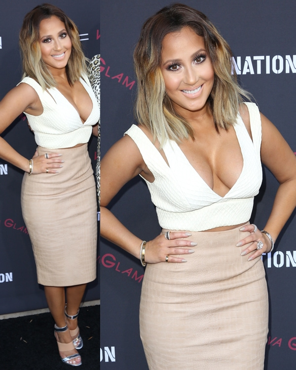 Adrienne Bailon at the Roc Nation Pre-Grammy Brunch in Los Angeles on January 25, 2014