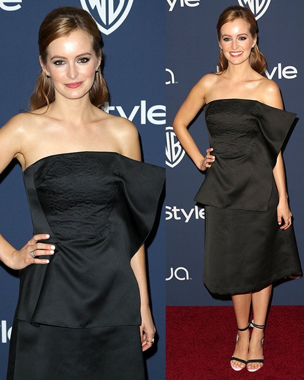 hna O'Reilly at the 15th Annual Warner Bros. and InStyle Golden Globe Awards after-party held at the Oasis Courtyard at The Beverly Hilton hotel in Beverly Hills on January 12, 2014