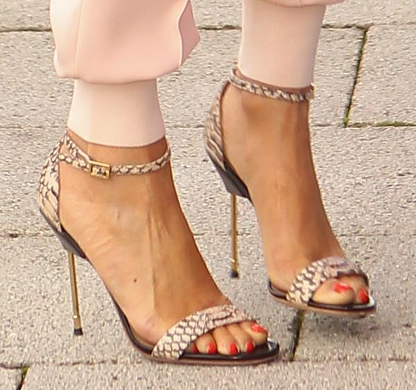 Alesha's classic Kurt Geiger 'Belgravia' heels are as fierce as her accessories