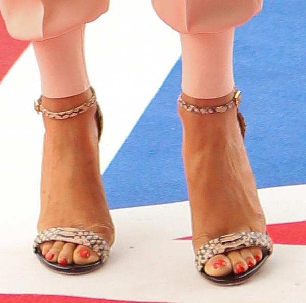 "Alesha Dixon in Kurt Geiger ""Belgravia"" sandals"
