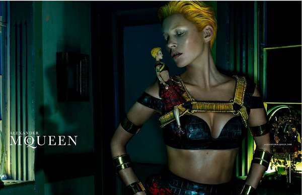 Kate has been transformed into a Tilda Swinton look-a-like for Alexander McQueen's long-awaited SS14 campaign