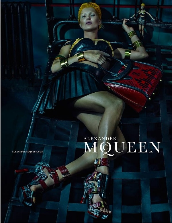 Kate Moss in the Alexander McQueen SS14 campaign
