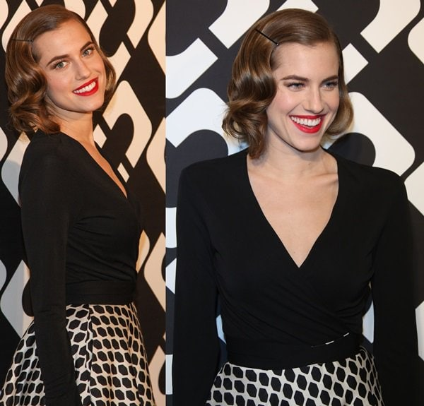 Allison Williams at Diane von Furstenberg's Journey of a Dress Exhibition Opening Celebration at May Company Building in Los Angeles on January 11, 2014