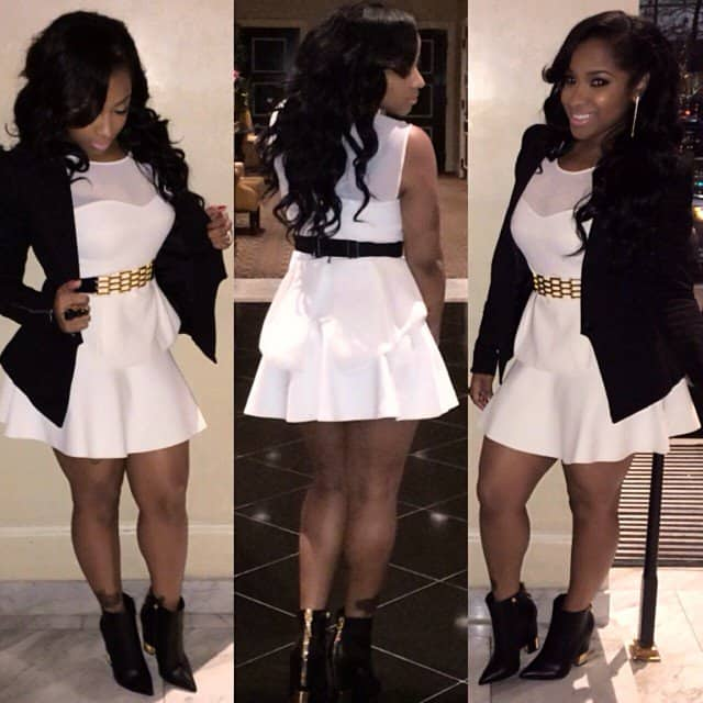 Toya Wright Parties In Boots And Shows Off New Heels On