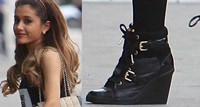 ariana grande black heels