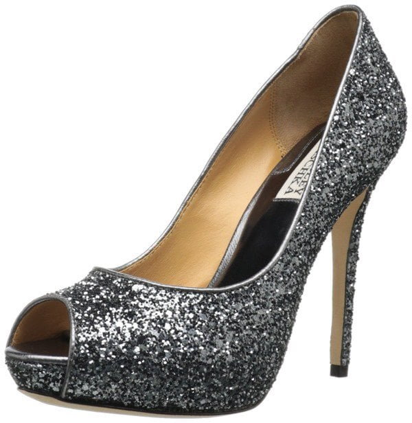 Badgley Mischka Divine Glitter Pumps