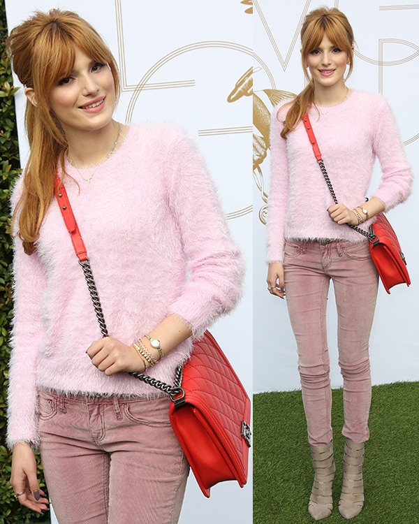 Bella Thorne at LoveGold's celebration of Gold and Glamour
