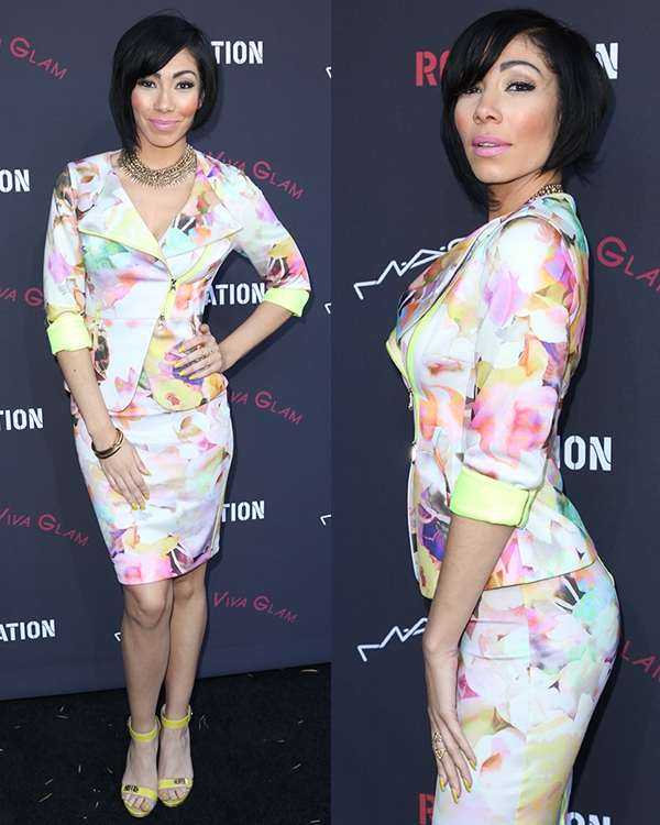 Bridget Kelly was hard to miss in her colorful outfit