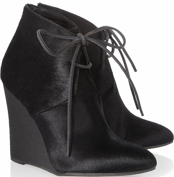 Burberry Calfskin Wedge Ankle Boots