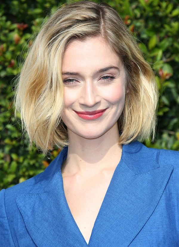 Caitlin Fitzgerald at the LoveGold event celebration of Gold and Glamour