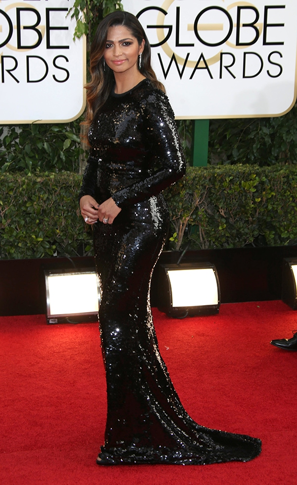 Camila Alves at the 71st Annual Golden Globes held at The Beverly Hilton hotel in Beverly Hills, California, on January 12, 2014