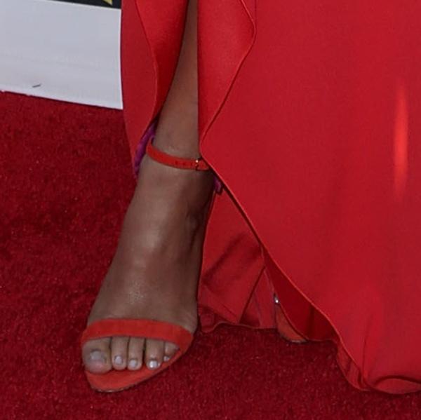 Camila Alves wearing Oscar Tiye Malikah sandals