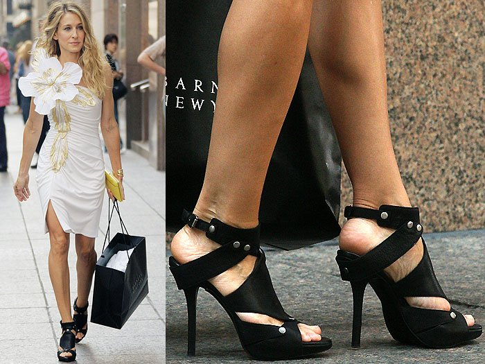 The black version of Carrie's wedding shoes (Patricia Field just really loved these shoes!)