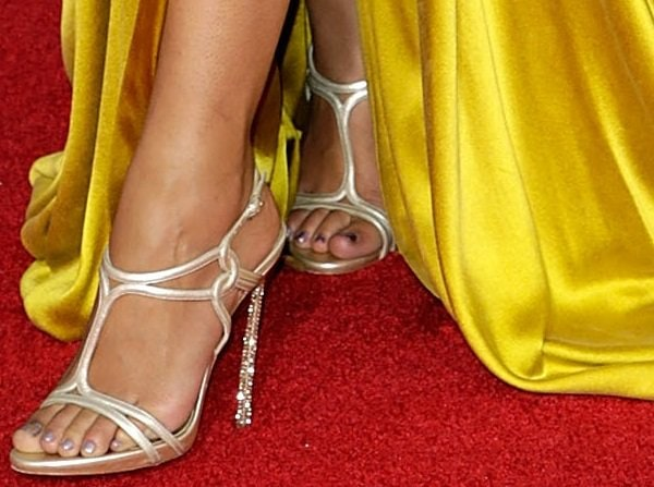Camila Alves showing off her feet in Casadei heels