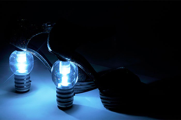 Chanel light bulb shoes