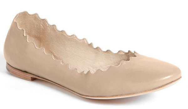 Chloe Lauren Scalloped Ballerina Flat