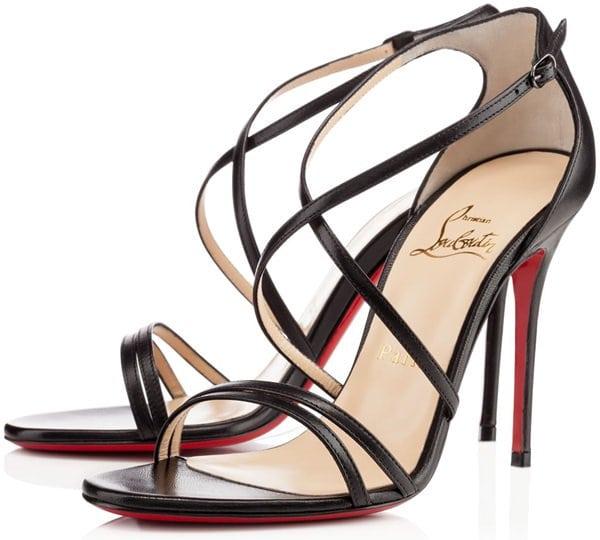 "Christian Louboutin ""Gwynitta"" Open-Toed Sandals in Black"