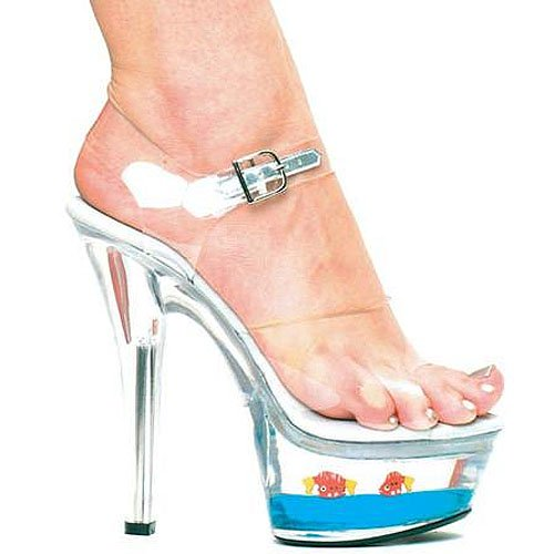 "Ellie Shoes ""601-Goldie"" Goldfish Platform Sandals"