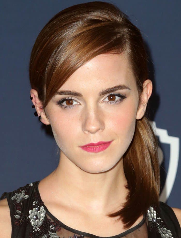 Emma Watson In Theory – InStyle and Warner Brothers Golden Globes Awards Party