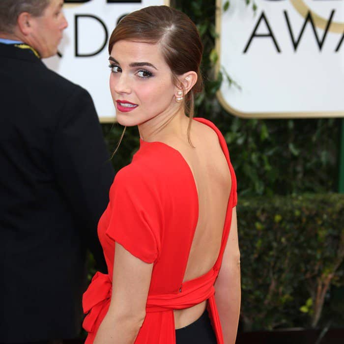 Emma Watson In Christian Dior Couture – 2014 Golden Globe Awards