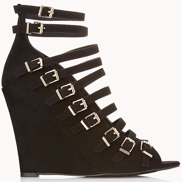 "Forever 21 ""Standout"" Buckled Wedges"
