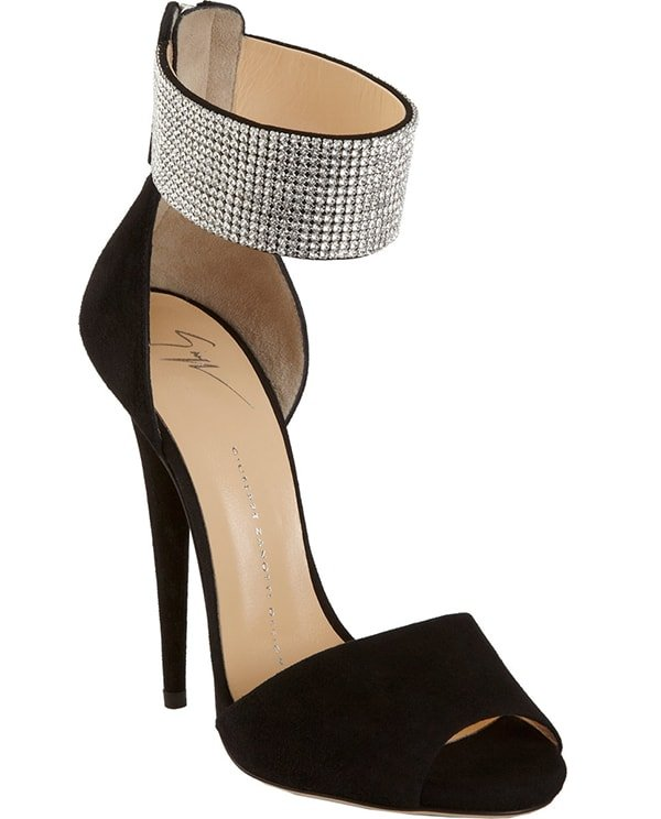 Giuseppe Zanotti Crystal Ankle Cuff Sandals