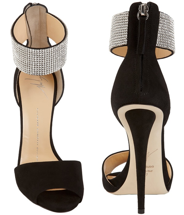 Giuseppe Zanotti Crystal Ankle Cuff Sandals2