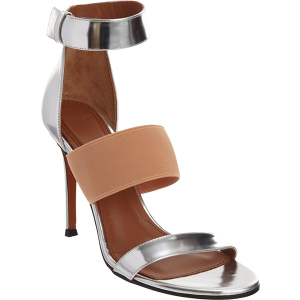 Givenchy Banded Metallic Sandals