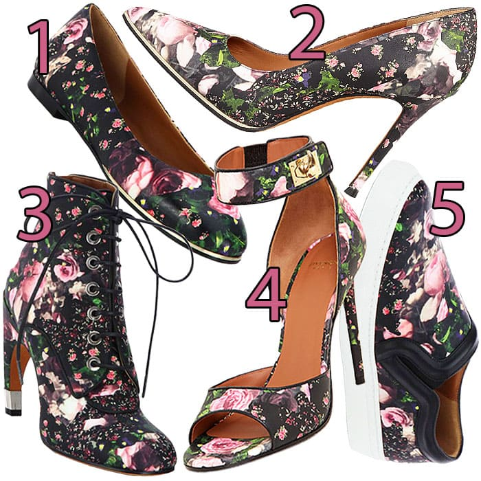 Givenchy rose print shoes