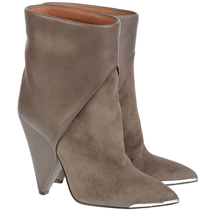 IRO Daithy High Ankle Suede Boots in Gray