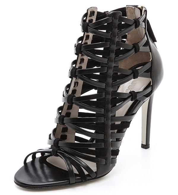 Jason Wu Leather and Suede Woven Sandals
