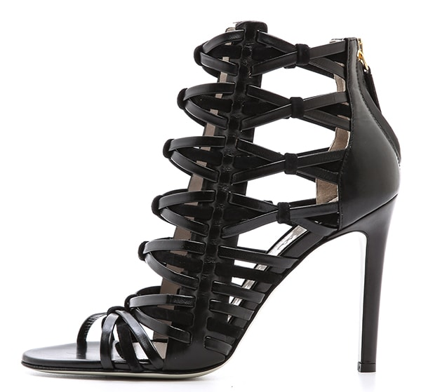 Jason Wu Leather and Suede Woven Sandals1