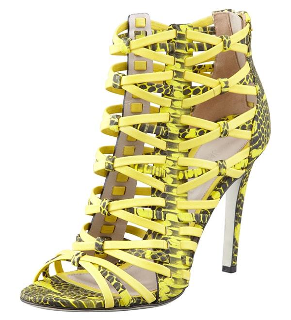Jason Wu Snake Print Strappy Sandals