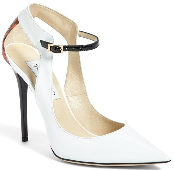 "Jimmy Choo ""Maiden"" Pointy-Toe Pumps in White"