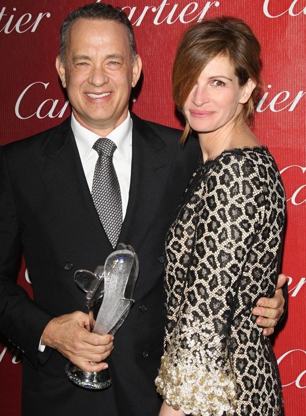 Julia Roberts and Tom Hanks at the 25th Annual Palm Springs International Film Festival on January 4, 2014