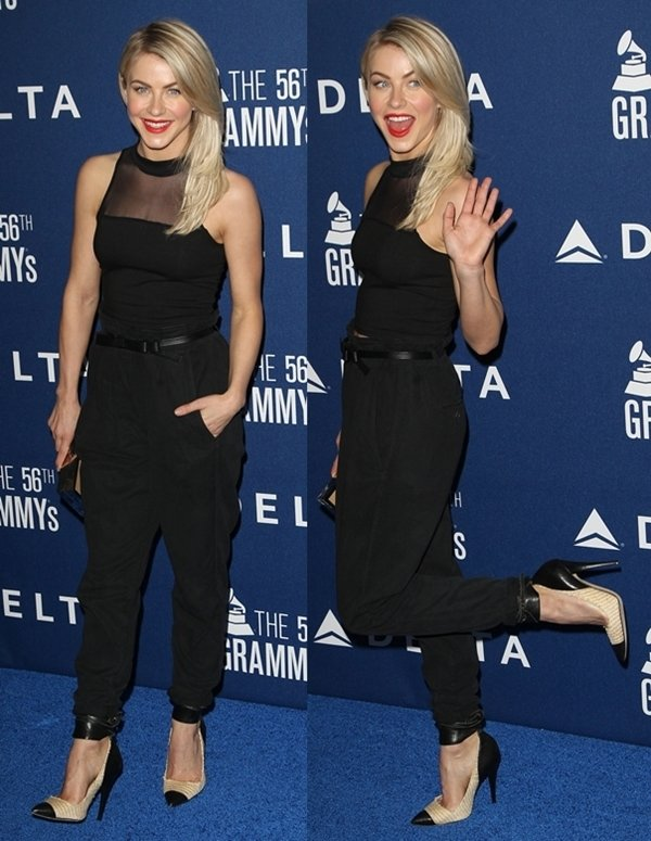 Julianne Hough at the Delta Airlines pre-Grammy party at Soho House in West Hollywood on January 24, 2014