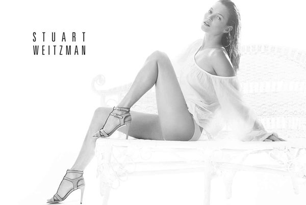 Kate Moss in her third consecutive season as the face of Stuart Weitzman