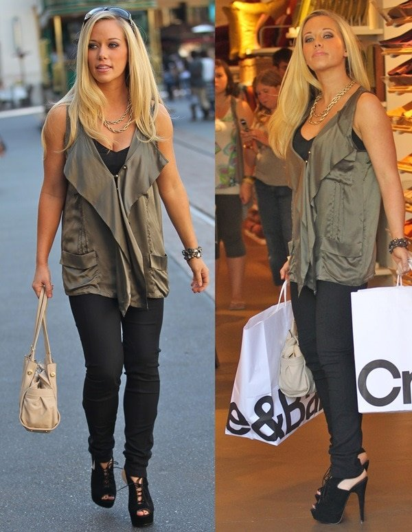 Kendra Wilkinson out shopping in jeans at Create and Barrell at The Grove