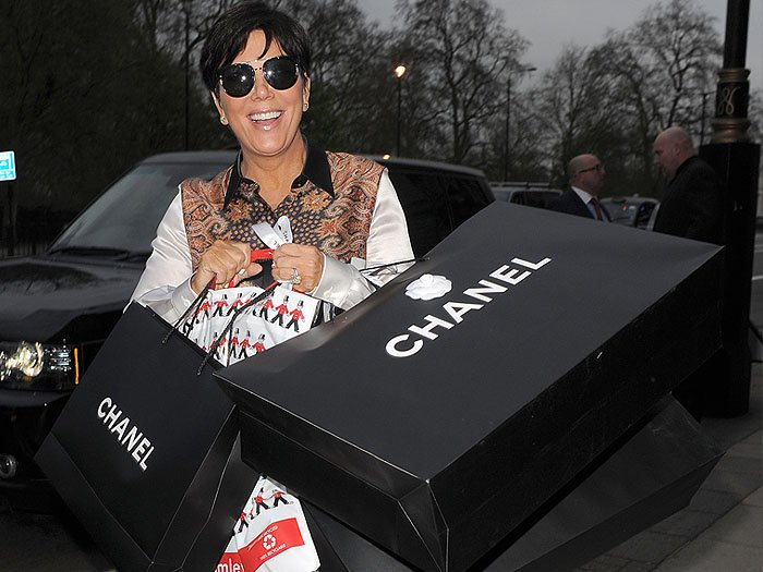 Kris Jenner Chanel shopping bags