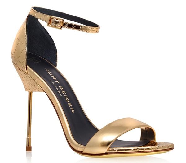"Kurt Geiger ""Belgravia"" Sandals in Gold"