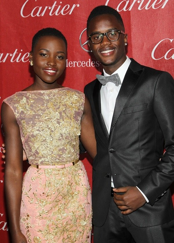 Lupita Nyong'o and Peter Nyong'o at the 25th Anniversary Palm Springs International Film Festival held at the Palm Springs Convention Center in Palm Springs, California, on January 4, 2014