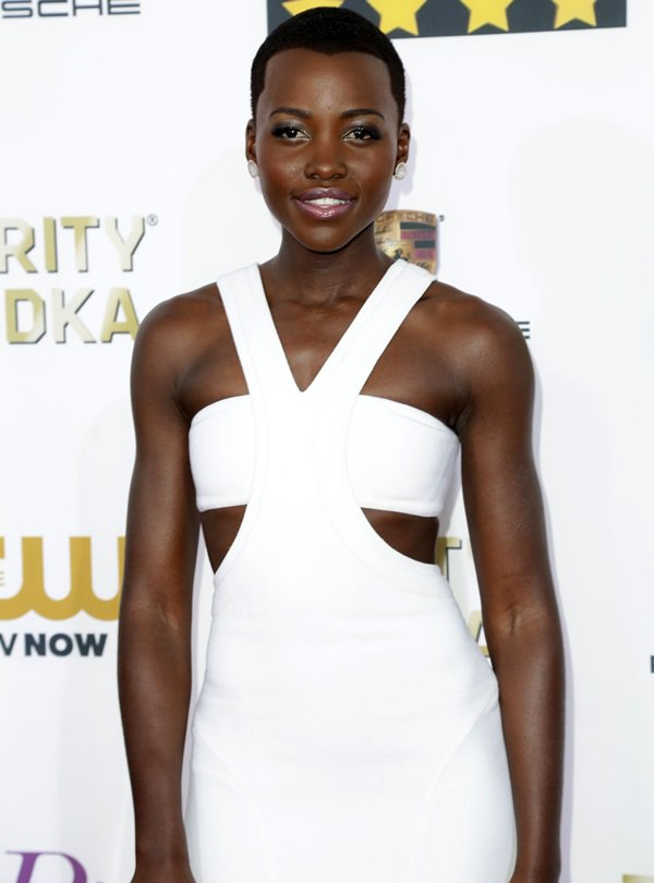 Lupita Nyong'o at the 19th Critics' Choice Movie Awards Ceremony LIVE on The CW Network at The Barker Hangar in Los Angeles on January 16, 2014