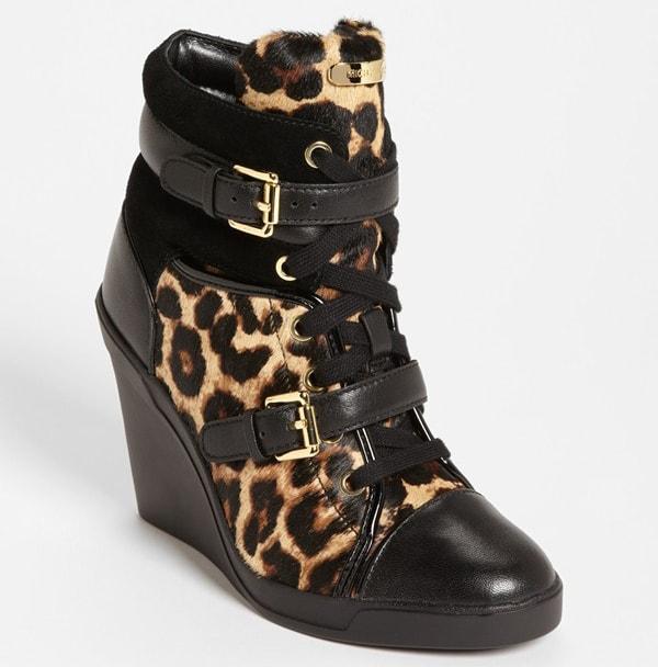 MICHAEL Michael Kors Skid Wedge Sneakers Cheetah
