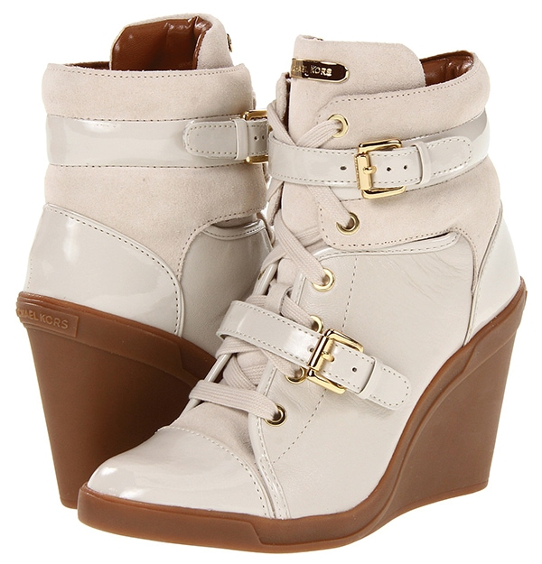 MICHAEL Michael Kors Skid Wedge Sneakers Vanilla