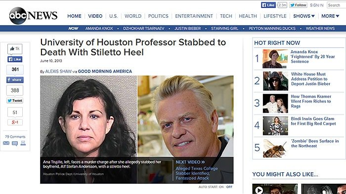 Man stabbed with heel news