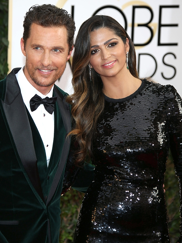 Matthew McConaughey and Camila Alves at the 71st Annual Golden Globes held at The Beverly Hilton hotel in Beverly Hills, California, on January 12, 2014