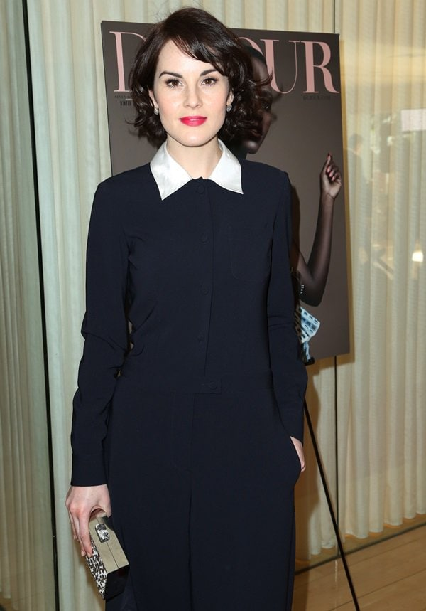 Michelle Dockery at DuJour magazine's Great Performances issue celebration and pre-Golden Globes party held at Herringbone, Mondrian LA, in Beverly Hills, California, on January 11, 2014