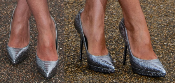 Paloma Faith's Burberry python pumps