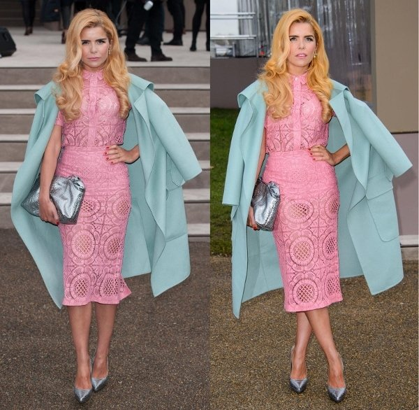Paloma Faith emulated this season's springtime look perfectly in a colorful ensemble from the Burberry Prorsum Spring 2014 collection